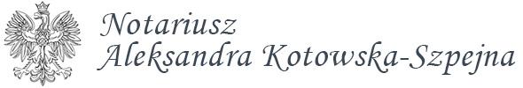 Notariusz Olsztyn - Aleksandra Kotowska-Szpejna